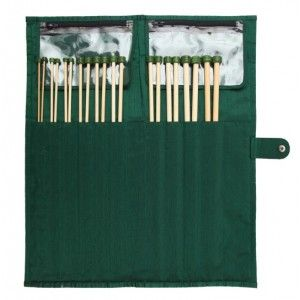 Bamboo Single Pointed Needle Set - 25 cm