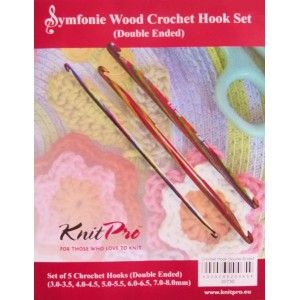 Symfonie Wood Set Ganchillos de Doble Punta