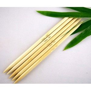 Agujas de Doble Punta en Bambú 20 cm