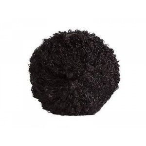 Mohair-yarn Bouclé - black