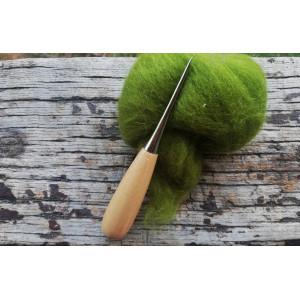 Mango de madera para una aguja de fieltro